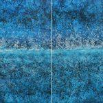 La ola, Acrílico sobre tela, 147x180 cm, 2019.