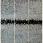 Tríptico Más allá del horizonte 3, Acrílico sobre tela, 2018.