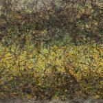 Punto de quiebre 11, Acrílico sobre tela, 60x183 cm, 2018