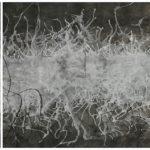 Triptico Punto de quiebre 2, Acrílico sobre tela, 60x60 cm c/u, 2017