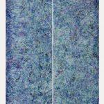 Diptico Proyección 4, Acrílico sobre tela, 190x36 cm c/u, 2018.