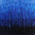 Mas allá de la luz 2, Acrílico sobre tela, 77x102 cm, 2017